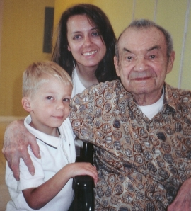 Nolan - age 5, Dina Marie, and Grandfather Luis Castillo.  He's age 90.  That picture was taken at his home located in Miami Lakes July 2009.